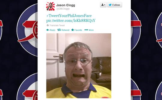 Fans mock Phil Jones' face with #TweetYourPhilJonesFace