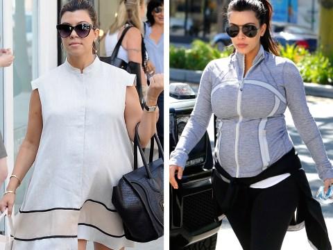 Pregnant Kim Kardashian v Kourtney Kardashian: Celebrity Face Off