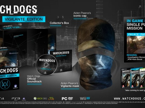 Watch Dogs release date is November 22, four different collector's editions revealed