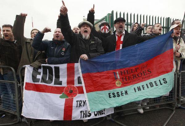 English Defence League rally