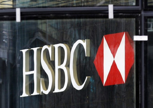 The logo of HSBC bank is seen at its office in the Canary Wharf business district of London April 1, 2013. REUTERS