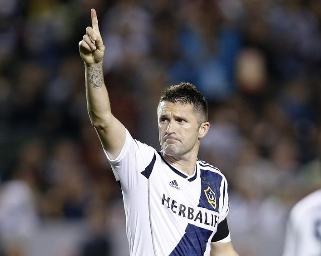 Still got it: Keane hails his hat-trick for LA Galaxy against Seattle Sounders at the weekend (Picture: Reuters)