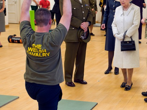 Queen and Prince Philip visits rehab centre for soldiers