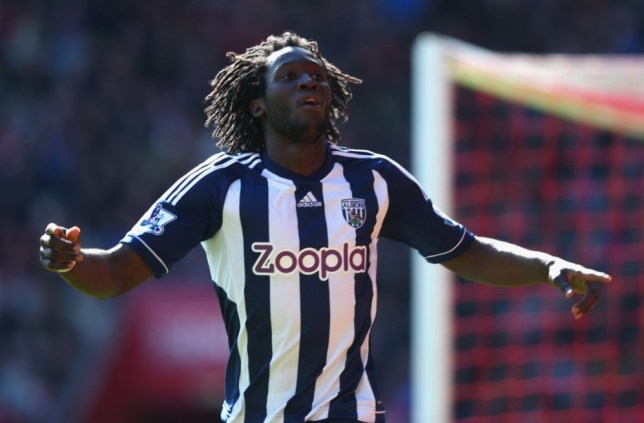 SOUTHAMPTON, ENGLAND - APRIL 27:  Romelu Lukaku of West Bromwich Albion celebrates scoring the second goal for West Bromwich Albion during the Barclays Premier League match between Southampton and West Bromwich Albion at St Mary's Stadium on April 27, 2013 in Southampton, England.  (Photo by Paul Gilham/Getty Images)