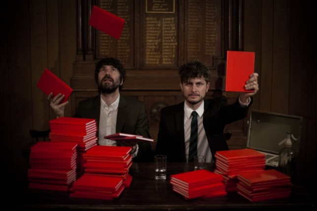 Neon Neon's Gruff Rhys and Bryan Hollon aka Boom Bip will be taking their latest work Praxis Makes Perfect on the road (Picture: Mark James)