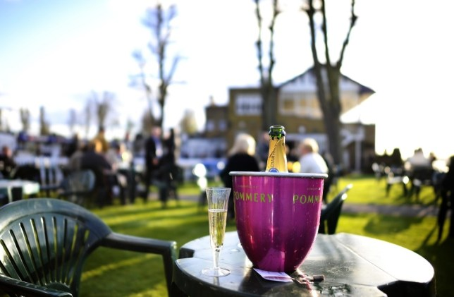 Windsor racecourse, champagne, Reading
