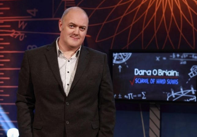 Dara O Briain has to solve a bunch of conundrums in School Of Hard Sums (Picture: UKTV)