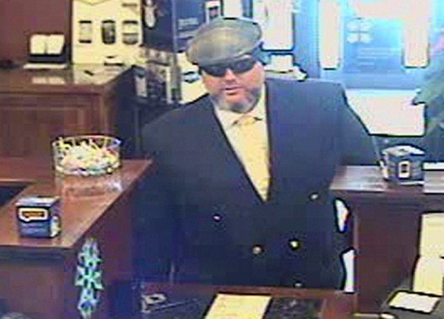 Corey Donaldson during the bank robbery