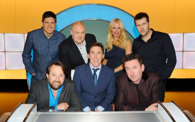 Rob Brydon is back to host the seventh series of Would I Lie To You with guests Vernon Kay, Dara O Briain, Denise Van Outen and Rhod (Picture: Endemol)
