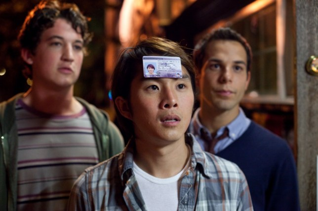 Justin Chon, Miles Teller and Skylar Astin put on amiable performances (Picture: Entertainment One)