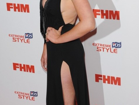 Helen Flanagan leaves very little to imagination with thigh-high splits and plunging neckline at FHM 100 sexiest women party