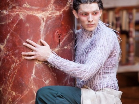 Merlin's Colin Morgan performs some gentle acrobatics as Arial in The Tempest