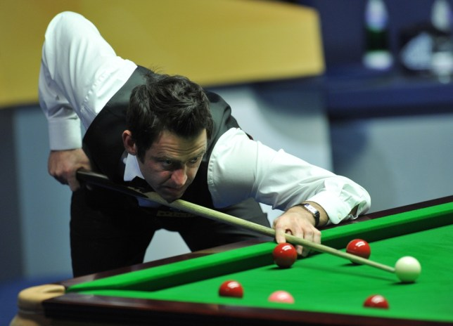 Ronnie O'Sullivan at the table in the final match against Barry Hawkins during the Betfair World Championships at the Crucible, Sheffield. PRESS ASSOCIATION Photo. Picture date: Monday May 6, 2013. See PA story SNOOKER World. Photo credit should read: Anna Gowthorpe/PA Wire