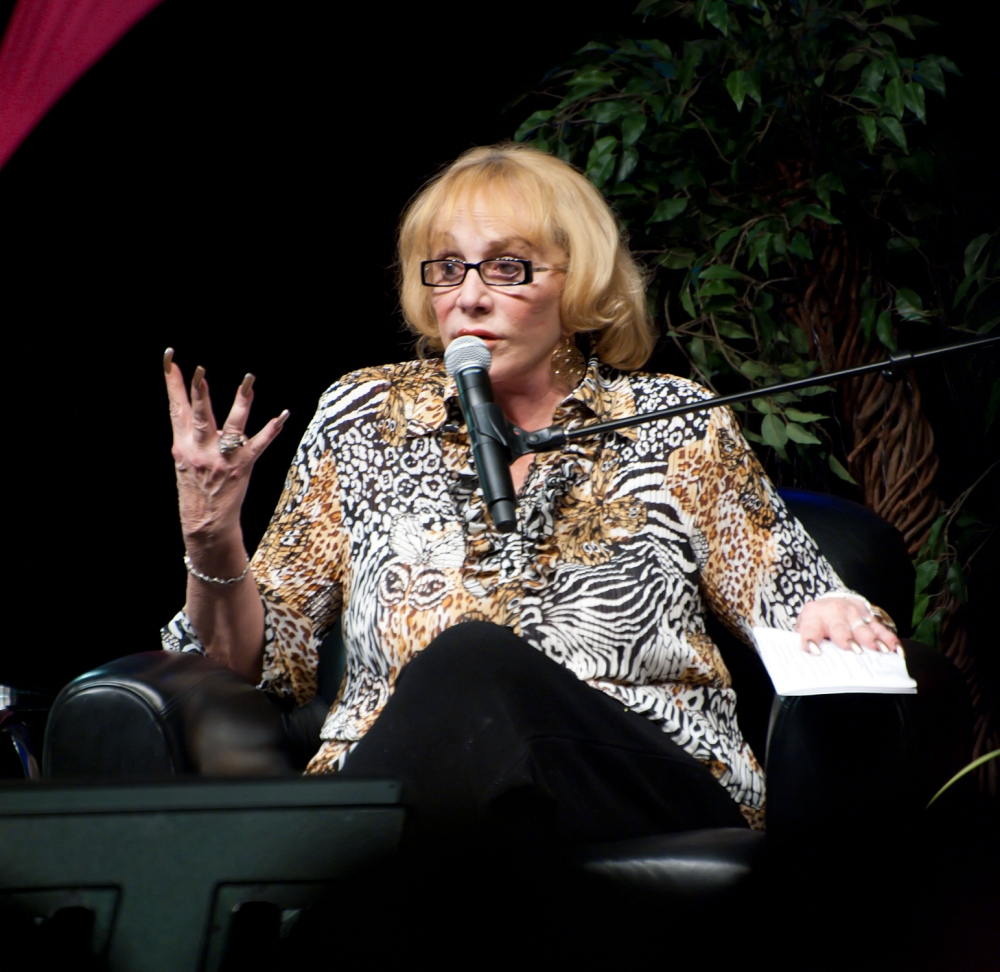 ALBUQUERQUE, NM ? NOVEMBER 13: Psychic medium and author Sylvia Browne speaks to the audience during her appearance at Route 66 Casino's Legends Theater on November 13, 2010 in Albuquerque, New Mexico. (Photo by Steve Snowden/Getty Images)