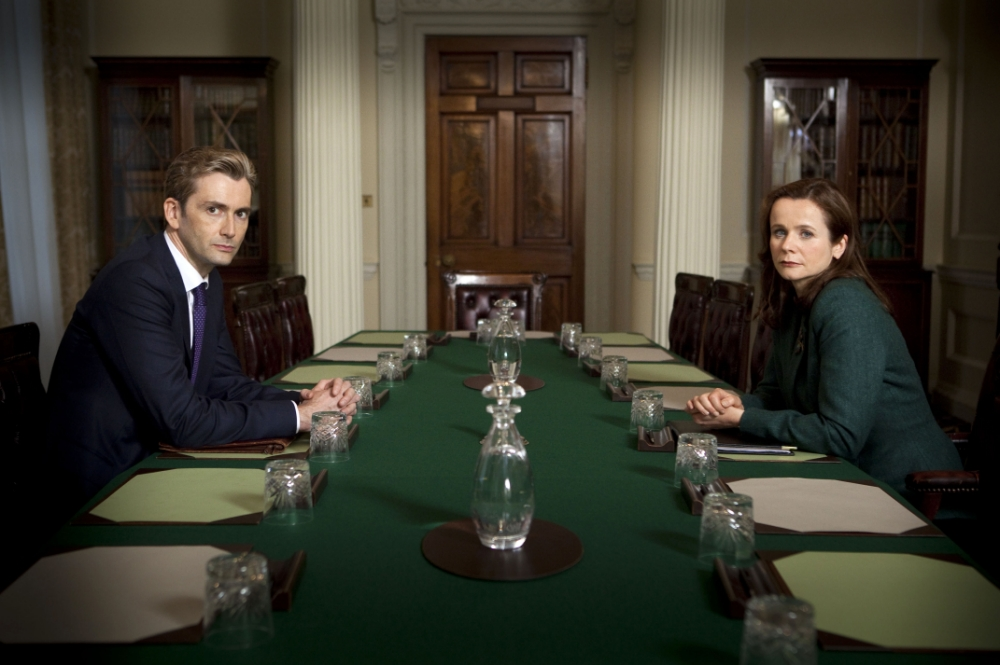 Even David Tennant and Emily Watson couldn't make The Politician's Husband believable (Picture: DayBreak)