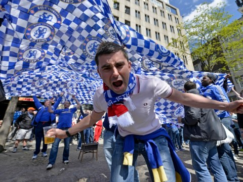 Gallery: Chelsea and Benfica fans arrive in Amsterdam for Europa League final