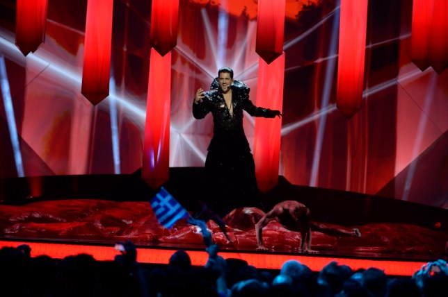 Romania's Cezar performs during the second semi-final of the 2013 Eurovision Song Contest at the Malmo Opera Hall in Malmo May 16, 2013. The final of the 2013 Eurovision Song Contest will be held on May 18. REUTER/Jessica Gow/Scanpix Sweden (SWEDEN - Tags: ENTERTAINMENT) SWEDEN OUT. NO COMMERCIAL OR EDITORIAL SALES IN SWEDEN. ATTENTION EDITORS - THIS IMAGE WAS PROVIDED BY A THIRD PARTY. FOR EDITORIAL USE ONLY. NOT FOR SALE FOR MARKETING OR ADVERTISING CAMPAIGNS. THIS PICTURE IS DISTRIBUTED EXACTLY AS RECEIVED BY REUTERS, AS A SERVICE TO CLIENTS. NO COMMERCIAL SALES