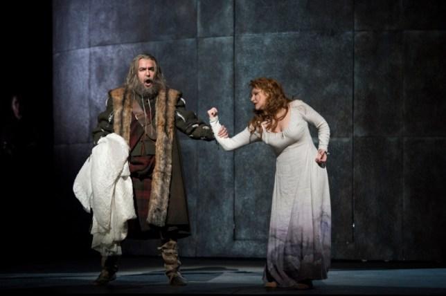 Simón Orfila as Duglas and Joyce DiDonato as Elena in La Donna Del Lago (Picture: ROH/Bill Cooper)