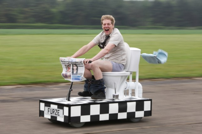 Colin Furze: Plumber unveils world's fastest toilet