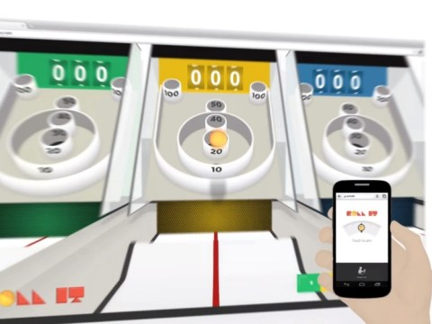 You got to Roll It: Google Chrome launches version of classic arcade game Skee-ball that uses smartphone and computer screen
