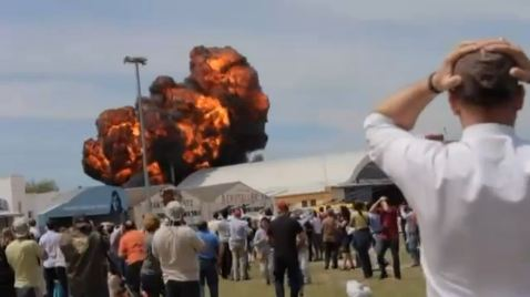 Fatal crash at Madrid airshow captured in dramatic video