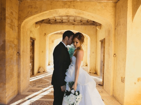 Introducing Mr and Mrs Gleave: Example shares snap of himself with beautiful bride Erin McNaught after marrying in Oz