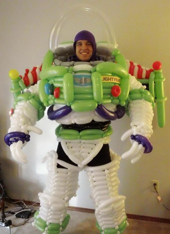 Buzz Lightyear reddit balloon costume brings Toy Story space
