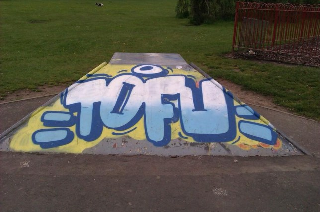 Dan Newso: Middle class graffiti appears in Cotteridge Park, Birmingham