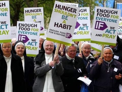 IF Enough Food for Everyone campaign raising awareness of the daily challenge to put food on the table