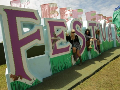The sun shines on festival-goers at the Isle of Wight Festival 2013