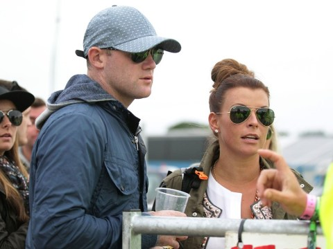 Wayne and Coleen Rooney wrap up for Glastonbury – but there's no room for them backstage