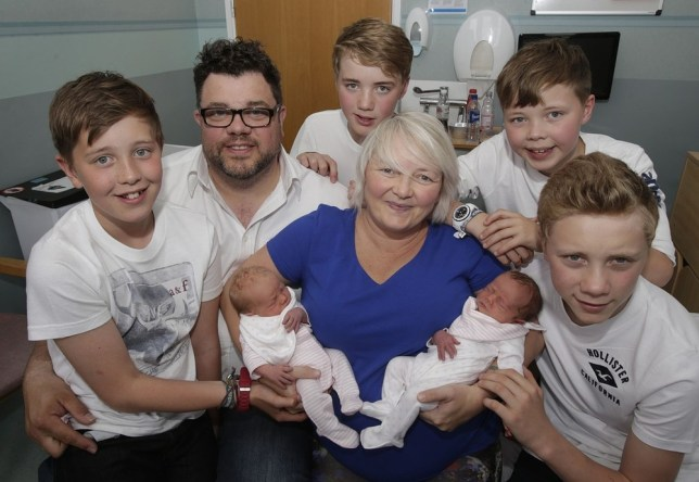 Mother Karen Rodger defies the odds to have third set of twins