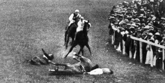 Suffragette Emily Davison threw herself under King George V's horse at Epsom in 1913 (Picture: Getty)