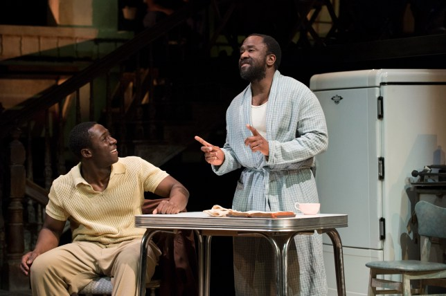Eric Kofi Abrefa and Lucian Msamati in The Amen Corner (Picture: National Theatre)