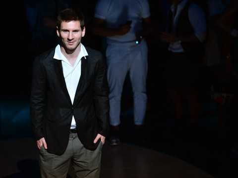 Gallery: Lionel Messi poses for Dolce & Gabbana as streaker takes to the catwalk