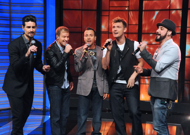 Back on tour: The Backstreet Boys will hit the road in 2014 (Picture: AP)