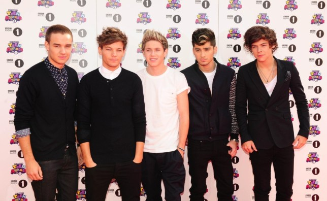 Niall Horan, Zayn Malik, Liam Payne, Harry Styles and Louis Tomlinson -