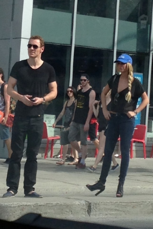 Michael Fassbender is in Montreal to film X-Men:Days of Future Past. During his day off, he was spotted hanging out with an un identify female. When Fassbender spotted a paparazzi he recognised, he screamed at the girl to step away from him and take his distance <P> Pictured: Michael Fassbender <B>Ref: SPL554496  010613  </B><BR/> Picture by: Sultana / Splash News<BR/> </P><P> <B>Splash News and Pictures</B><BR/> Los Angeles: 310-821-2666<BR/> New York: 212-619-2666<BR/> London: 870-934-2666<BR/> photodesk@splashnews.com<BR/> </P>
