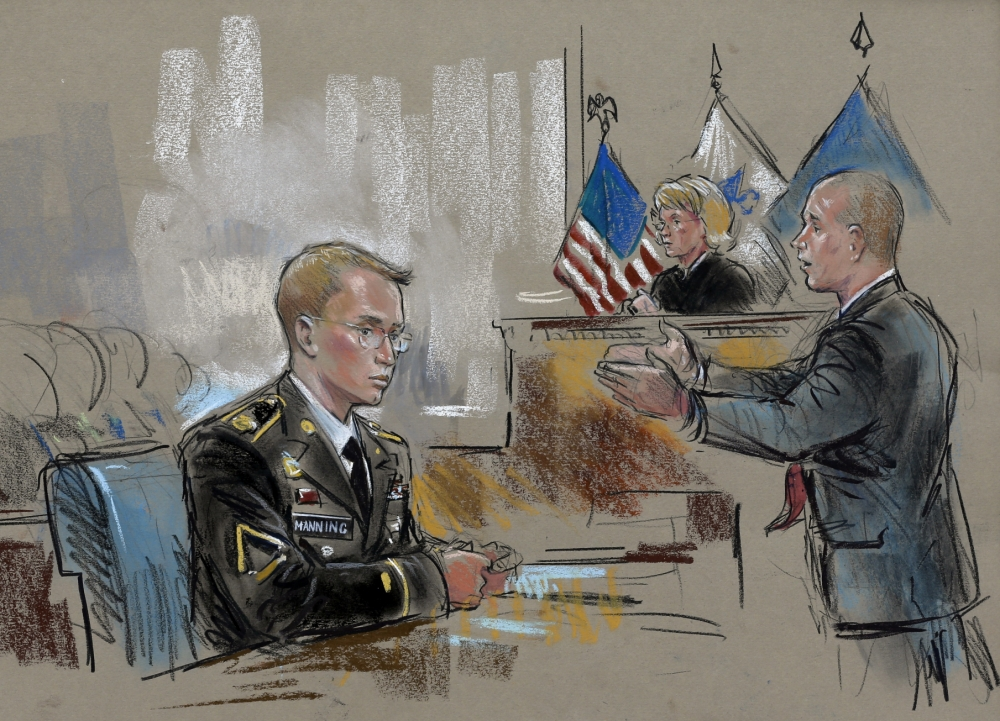 Bradley Manning begins court martial accused of leaking 700,000 secret documents to Wikileaks