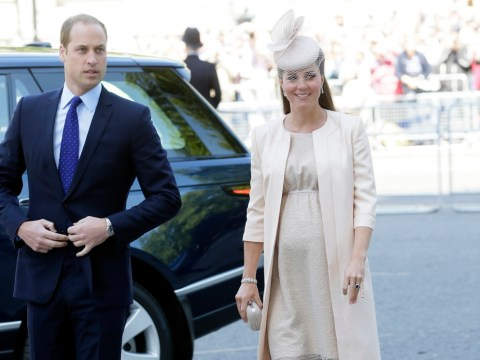 Pregnant Kate Middleton graces Westminster Abbey for coronation anniversary service