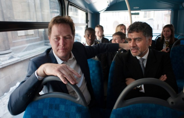 Nick Clegg with his new social mobility tsar James Caan