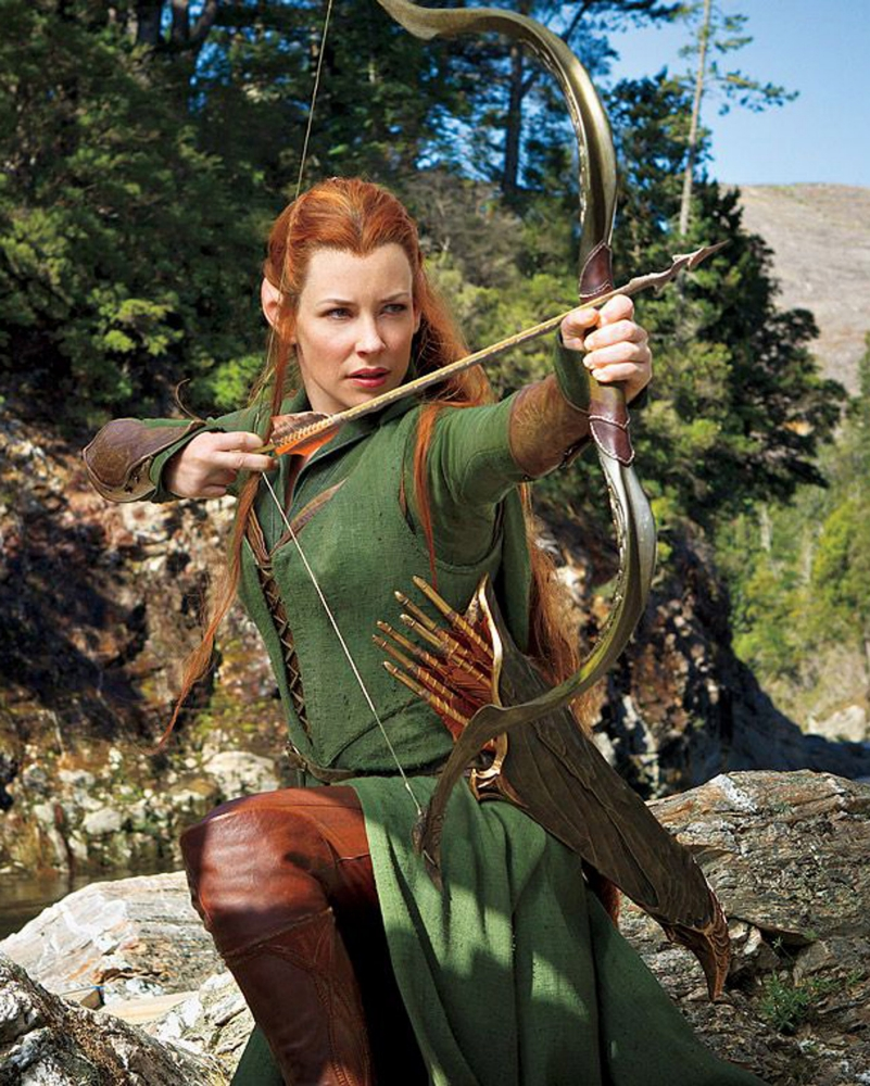 New Desolation of Smaug pics offer first glimpse of Evangeline Lilly's elf Tauriel