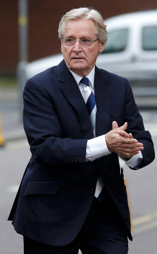 British actor Bill Roache, who plays the character of Ken Barlow in the soap opera Coronation Street, arrives for a hearing on sex offence charges at Preston Crown Court in Preston, northern England June 10, 2013. REUTERS/Phil Noble (BRITAIN  - Tags: CRIME LAW MEDIA ENTERTAINMENT)