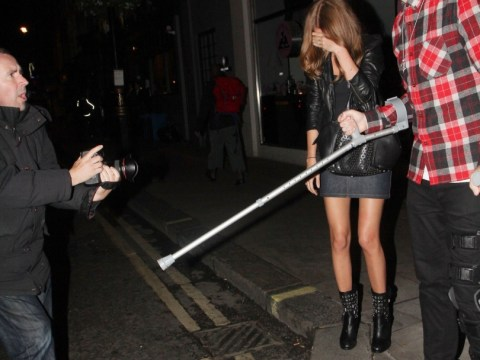 Professor Green hit's out at paparazzi who tried to take up the skirt shot of fiancee Millie Mackintosh
