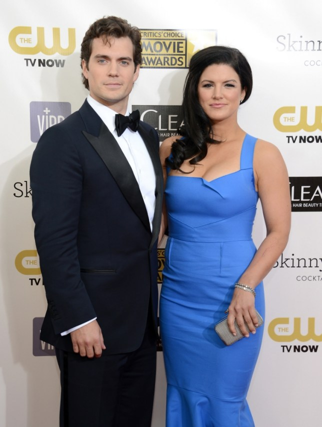 Henry Cavill and Gina Carano (Picture: Michael Kovac/WireImage)