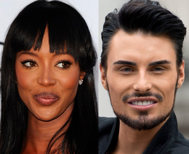 The Face: Naomi and Rylan battle it out (Photo: File)