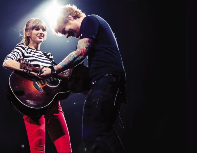 Taylor Swift and Ed Sheeran (Picture: supplied)