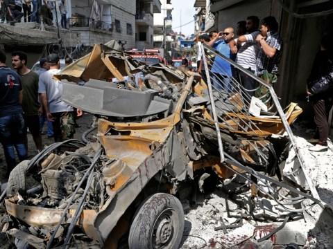 22 die in Damascus blasts as rebels target Syrian soldiers