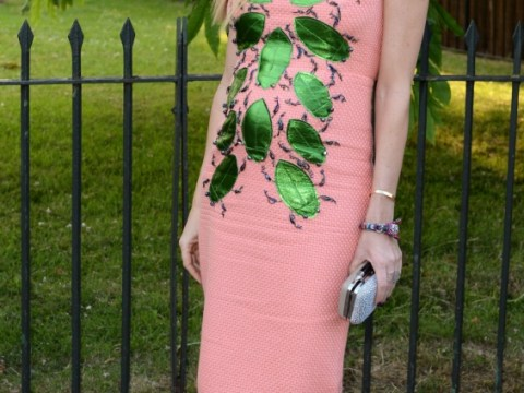 Pregnant Caprice makes fashion faux pas in bizarre insect dress at Serpentine Summer Party