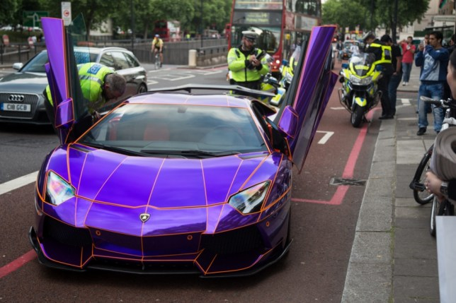 Lamborghini Aventador Royal S 350k Supercar Towed In Knightsbridge